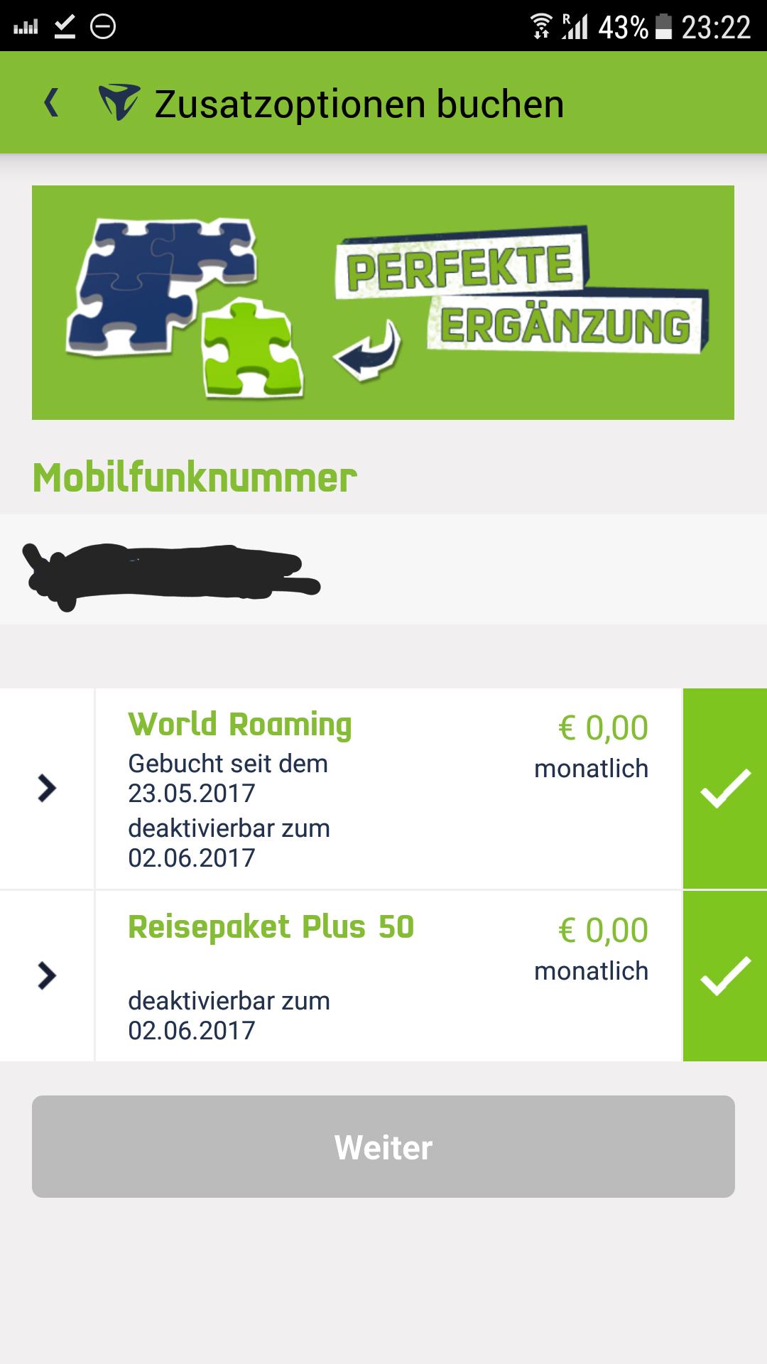 Reisepass plus 50 - Vodafone MobilCom
