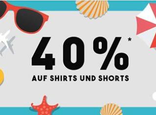 40% Rabatt auf alle Shirts und Shorts @SC24.com
