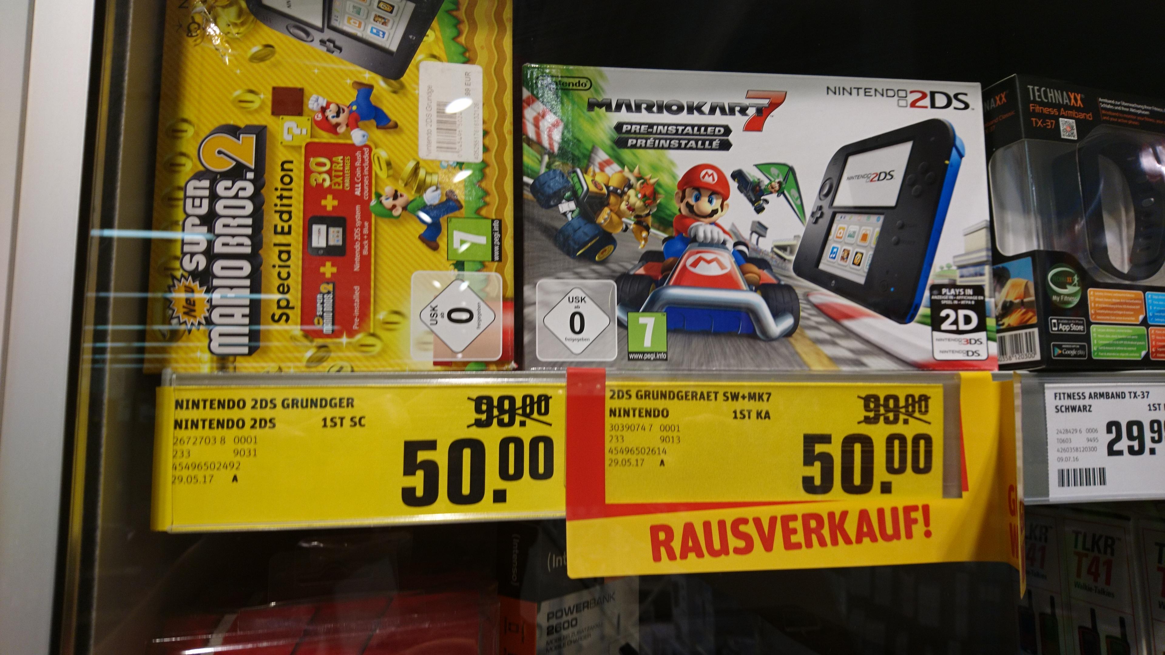 Lokal - Nintendo 2DS incl. Mario Kart 7 oder New Super Mario Bros. 2