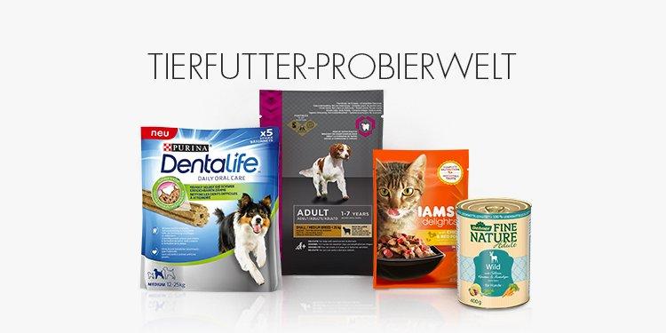Tierfutter Probierwelt (Amazon Prime) für Hunde und Katzen