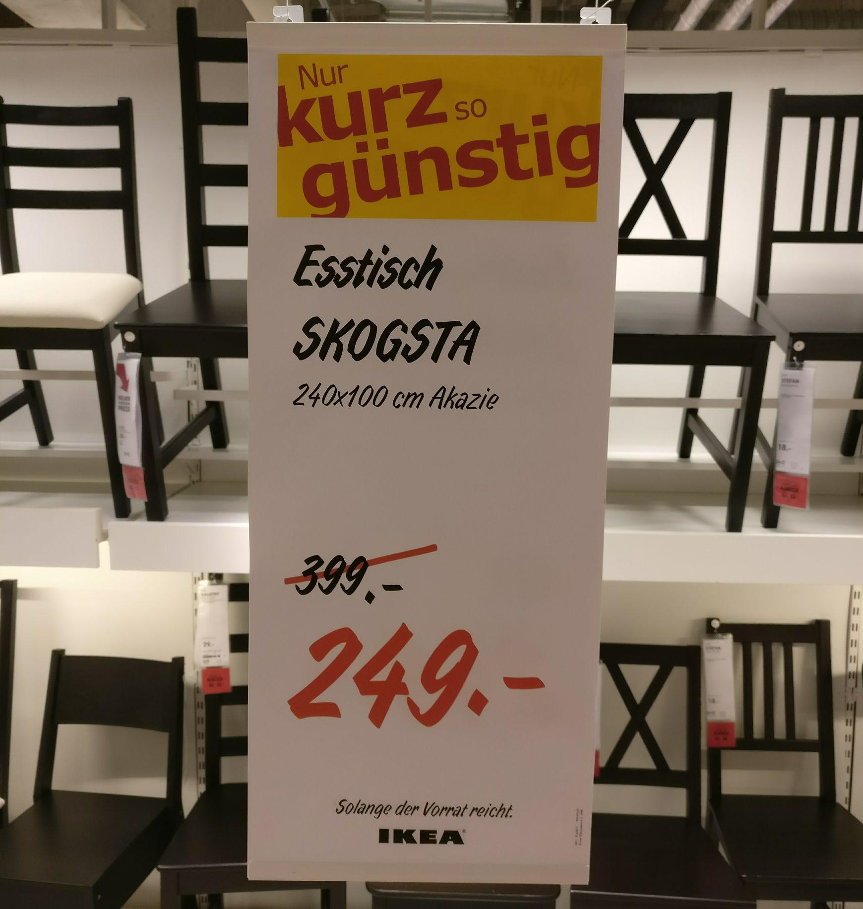 [Lokal Ikea Kamen] Skogsta Esstisch Akazie für 249 statt 399