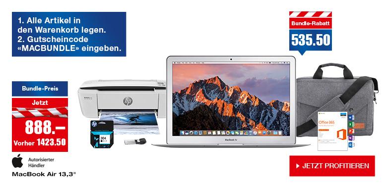 """[CH] Apple MacBook Air 13,3"""" inklusive viel Zubehör für 818€ / nur MacBook für 736€"""
