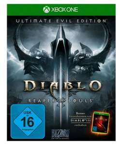 Diablo III - Ultimate Evil Edition (Xbox One & PS4) für je 19,99€ (Amazon Prime + Saturn + GameStop)