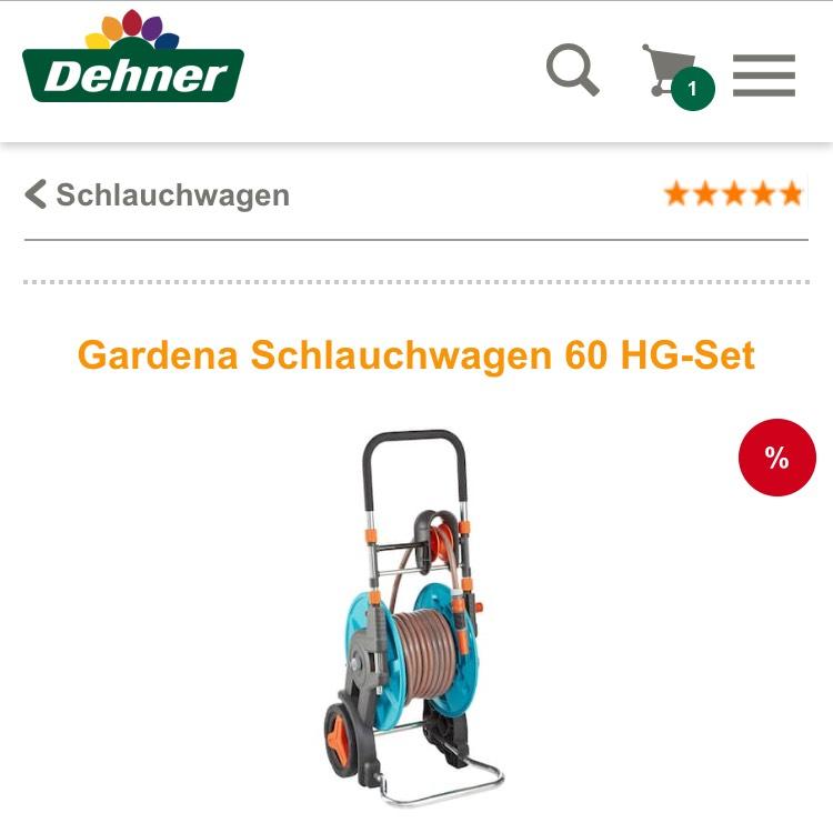 (Dehner) Gardena Schlauchwagen HG60 Set mit Schlauch u.U. für 52€