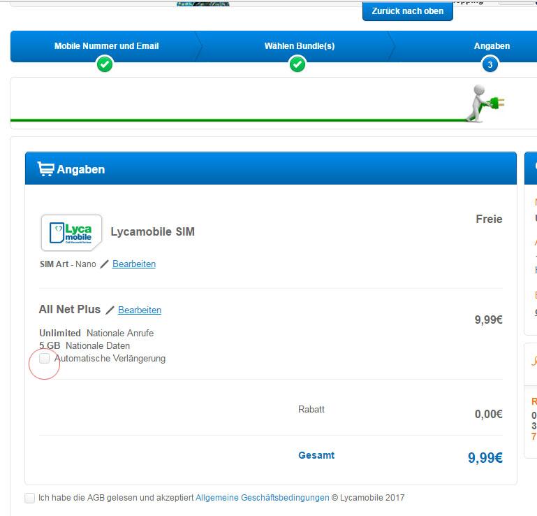 Lycamobile 5GB ALL NET PLUS 30 Tage 9,99€ nur für neue Kunden
