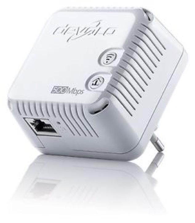Devolo dLAN 500 WiFi Powerline 500 M Ergänzungsadapter 300 Mbit/s über WLAN weiß