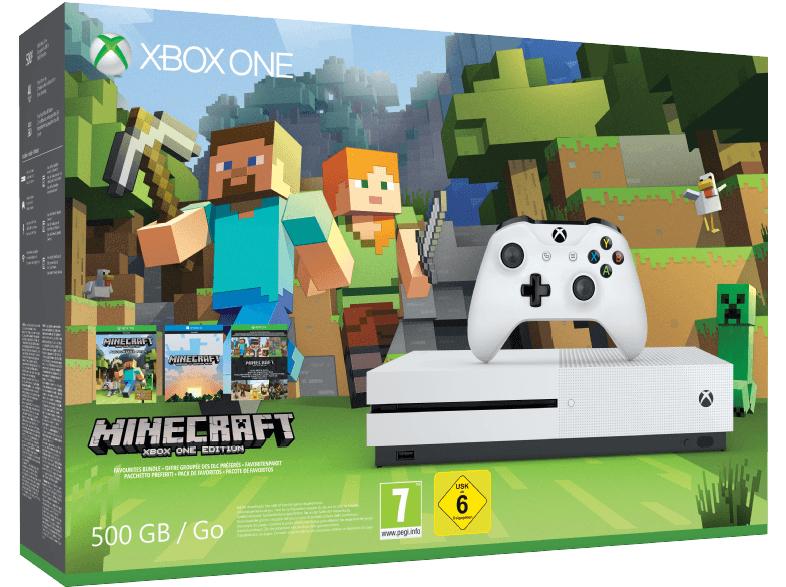 MM ab jetzt für 186 Euro versch. Bundle / [Saturn] Xbox One S 500GB + Minecraft (Favoriten-Paket) für 199 Euro inkl. VSK