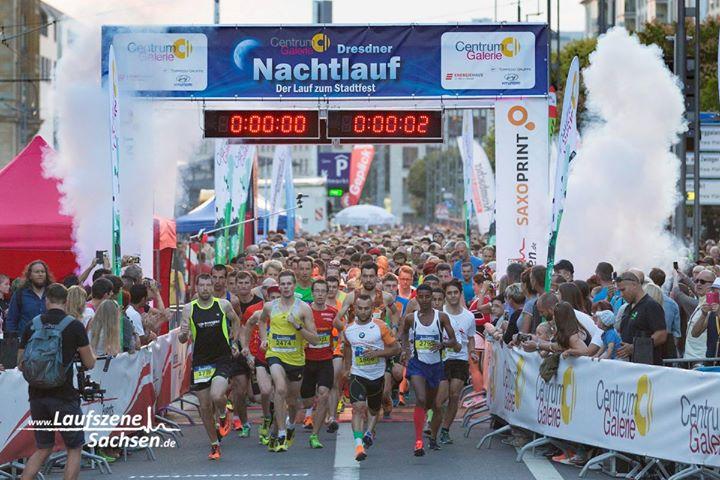 3 Euro Rabatt auf Teilnahmergebühren bei Dresdner Nachtlauf für 5 km-Strecke