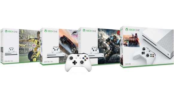Xbox One S (500GB) Battlefield 1 Bundle + Xbox Wireless Controller (Schwarz oder Weiß) für 239€, oder Xbox One S (500GB) (Blau & Grau) FIFA 17 Special Edition Bundle + Xbox Wireless Controller (Schwarz oder Weiß) für je 239€ (Microsoft Store FR)