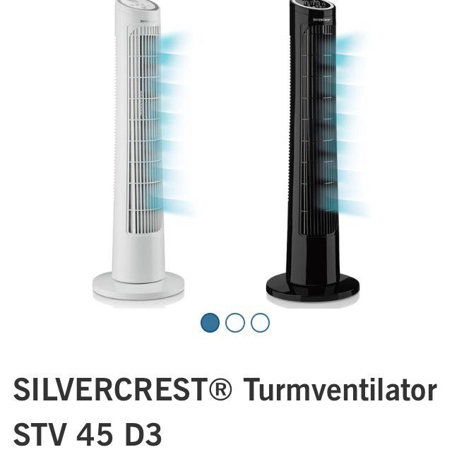 Silvercrest Turmventilator STV 45 D3 mit 90° Oszillation