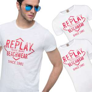 3er-Pack Replay Herren Shirts für 15,99€ [ebay]
