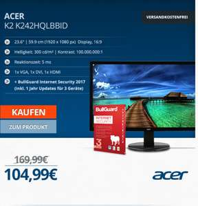 [one.de] Acer K242HQLBBID 24Zoll 5ms Full HD