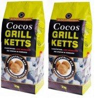 Cocos Ketts - Grillkohle-Briketts aus Kokosnuss (24kg) (1,39€/kg)