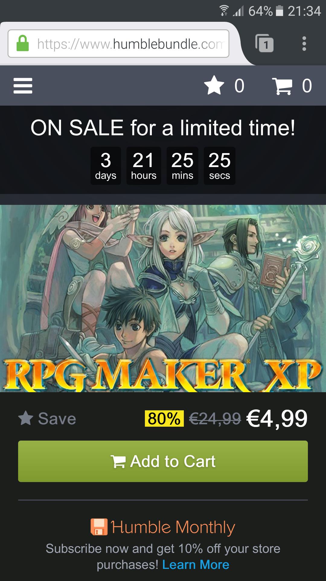 [Humble Bundle] RPG Maker XP stark reduziert