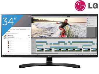 """LG 34UB88-B 34"""" Zoll Monitor, IPS-Panel, UWQHD 3440x1440, 21:9, 5ms, AMD FreeSync, 99% sRGB, 2xHDMI, 1xDisplayPort, 2x Thunderbolt, 1x Line-Out,Lautsprecher (IBOOD)"""