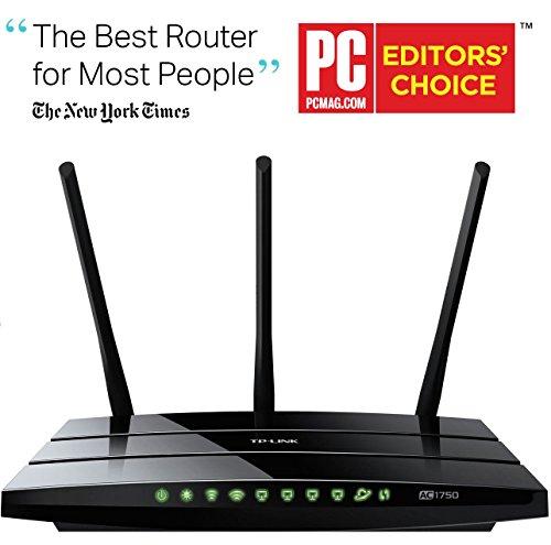 Lightning Deal Amazon bis circa 15 Uhr - TP-Link Archer C7 AC1750 Gigabit Dualband WLAN Router(für Anschluss an Kabel-/DSL-/GlasfaserModem, 450 Mbit/s(2,4GHz)+1300 Mbit/s(5GHz), 2 USB 2.0 Ports, IPv6, Print/Media/FTP Server)