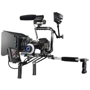 Walimex Pro Mutabilis Basic-Set Start-Up Video Rig Cage inkl. Top Handle, Basiseinheit und Rods