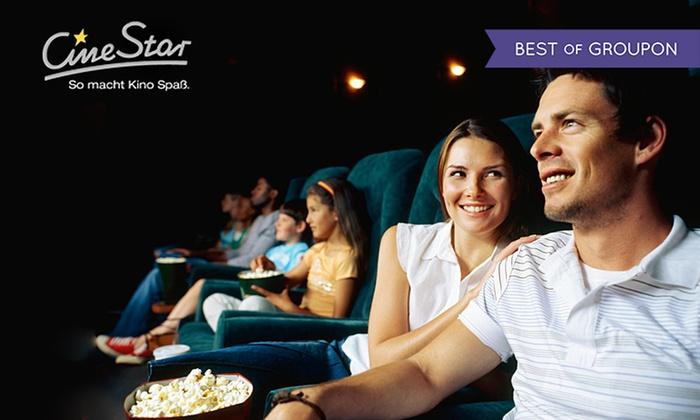 6 CineStar Kinogutscheine für alle 2D-Filme inkl. Film- und Sitzplatzzuschlägen [Groupon]