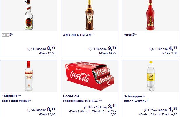 diverse Spirituosen im Angebot   zb.  PITÚ@ Aldi Süd