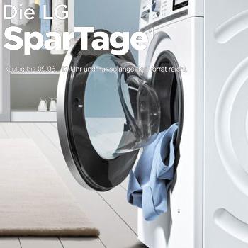 LG SparTage bei ao - z.B. Waschtrockner für 479 € statt 629 €, Waschmaschinen ab 359 € oder amerikanischer side-by-side Kühlschrank