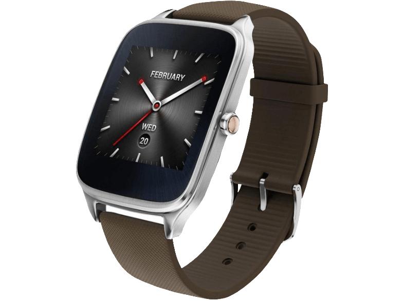 ASUS ZenWatch 2 Smart Watch Silikon, 115 mm, Silber/Braun für 96€ [ Media Markt ]