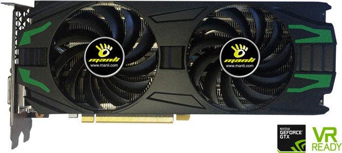 Manli GeForce GTX 1080 Twin Cooler, 8GB GDDR5X