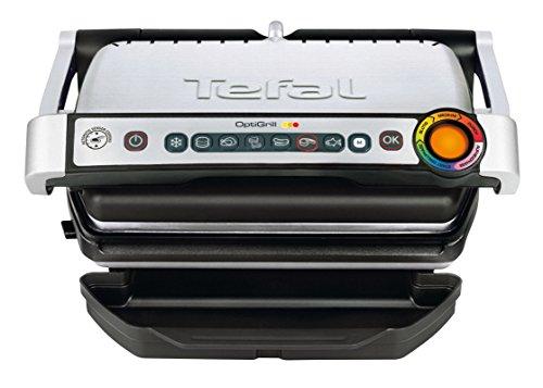 Amazon / Saturn: Tefal GC702D Optigrill, Standard-Modell, 2000 W, automatische Anzeige des Garzustandes, 6 voreingestellte Grillprogramme, Edelstahl schwarz/silber