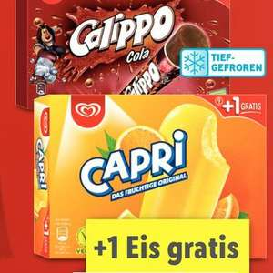 Langnese Capri, Calippo Cola & Flutschfinger +1 Eis gratis für 1,85€ [Lidl am 17.06.]