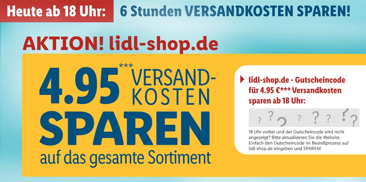 Lidl: keine Versandkosten auf lidl.de von 18-24 Uhr!