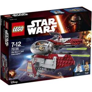 LEGO® Star Wars 75135 Obi-Wan's Jedi Interceptor™ für 15€ [Müller & Amazon Prime]