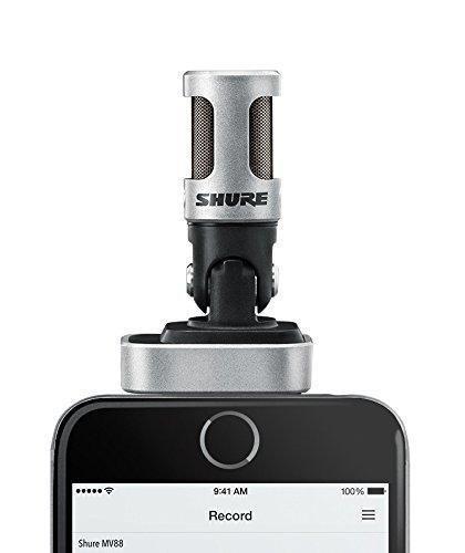 Shure MOTIV MV88 Digitales Stereo Kondensatormikrofon für iPhone und iPad