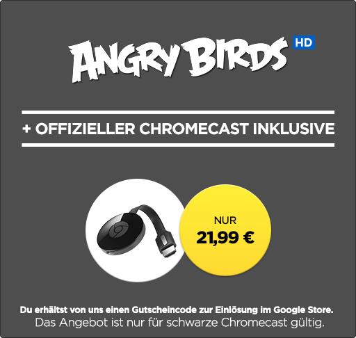 Chromecast 2 + Kauffilm »Angry Birds« in HD für 21,99€ bei Wuaki