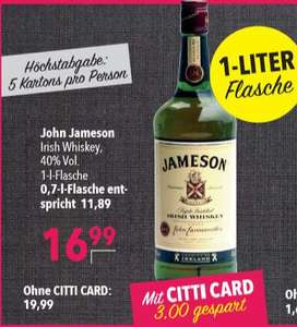 Jameson™ - Irish Whiskey 1,0 Liter für €16,99 [@Citti]