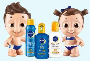 KOMBO DEAL : 20% Rabatt auf ausgewählte Sonnenpflege-Produkte + GRATIS Nivea Sonnenpuppe
