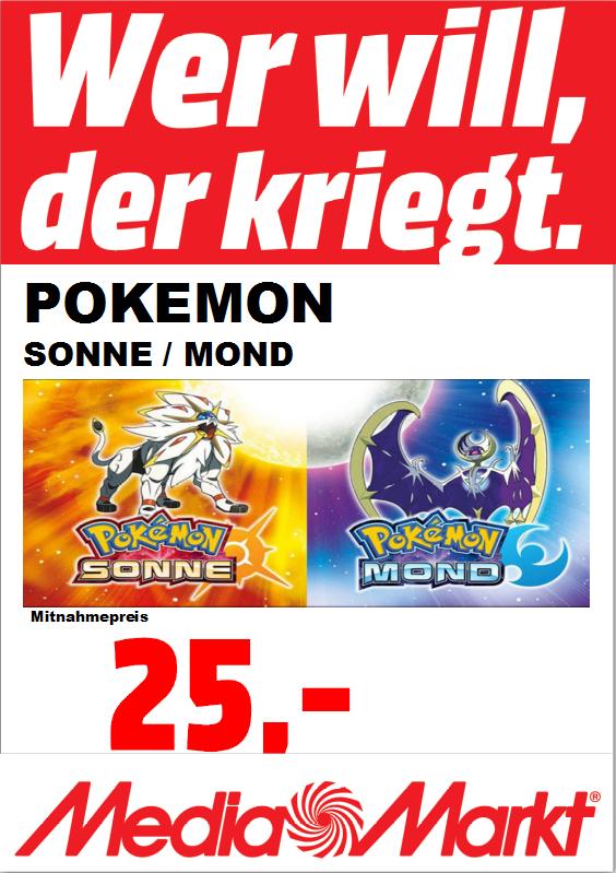 Pokemon SONNE oder MOND 25€ LOKAL MM MTZ