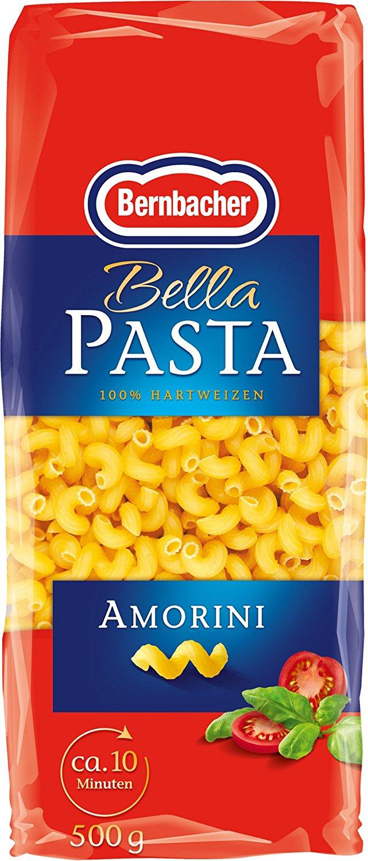[amazon.de PLUS] Bernbacher Pasta 500g - Amorini, 5er Pack (5 x 500 g Beutel) für 3,64€