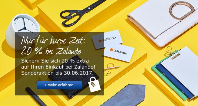 [Allianz Vorteilsprogramm] Sonderaktion -20% auf 50€ Zalando Gutscheine für 40€ (bis 30.06.) - 500€ f. 400€ - Kombinierbar mit 20%!