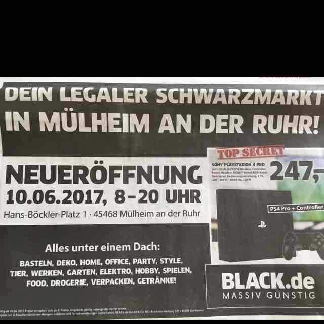 Sony Playstation 4 Pro 1TB LOKAL bei Black.de in 45468 Mülheim