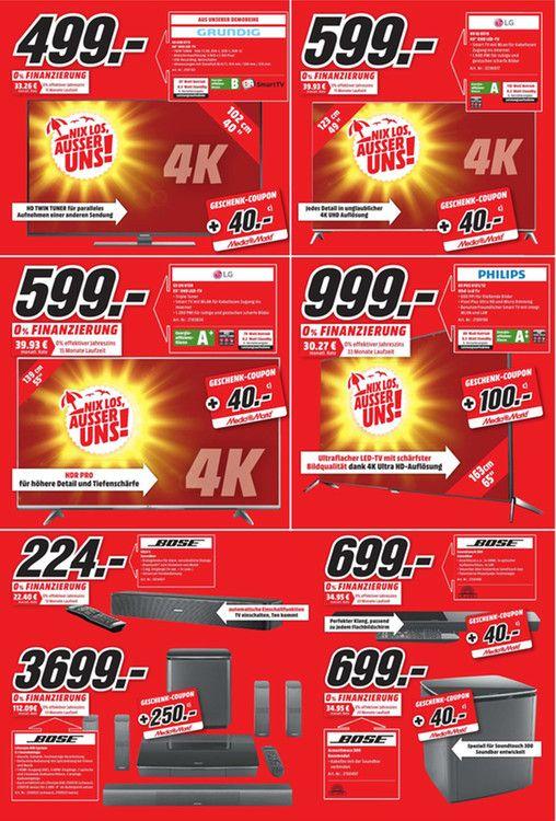 [Lokal MM Koblenz] LG 49UJ6519 123 cm (49 Zoll) Fernseher (Ultra HD, Triple Tuner, Smart TV, Active HDR) [Energieklasse A] incl. 40 EUR Coupon