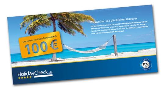 100€ Holidaycheckgutschein ohne MBW (bei Verkauf Wert von 25€-40€) geschenkt durch Test von Readly für 2 Monate für insgesamt 9,99€