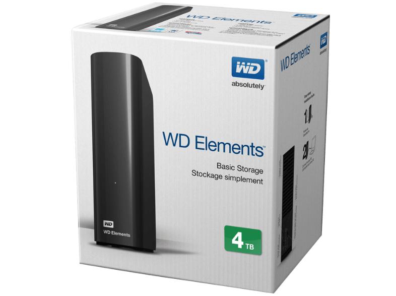 WD Elements Desktop 4TB - Externe 3,5 Zoll Festplatte