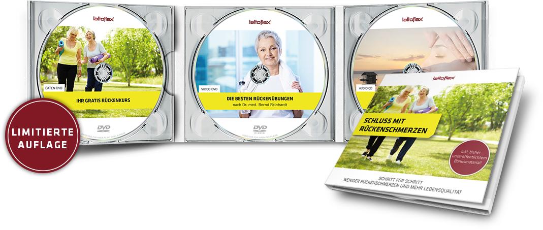 Kostenlos: Lattoflex - kostenloses DVD-Set zum Rückenkurs