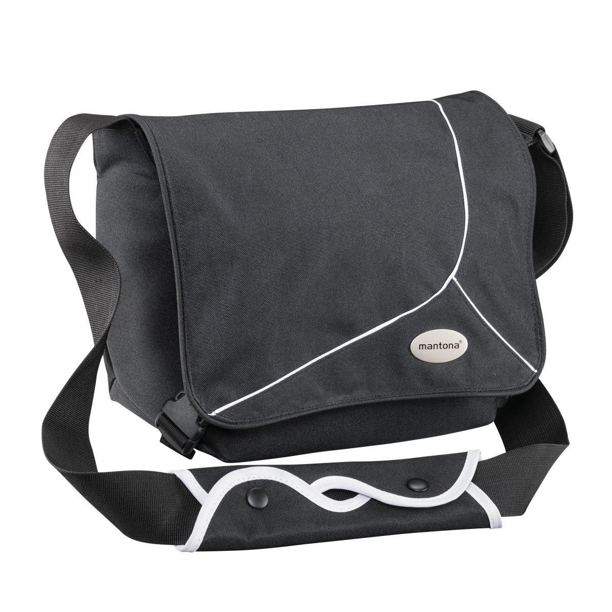 [Amazon Prime] Mantona Mondstein SLR-Kameratasche (Messenger Bag, Universaltasche) schwarz/weiß für 19€