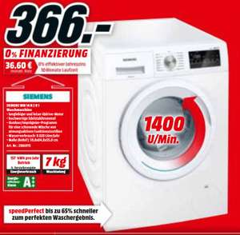 [MM Berlin-Brandenburg] Waschmaschine Siemens WM14N2B1