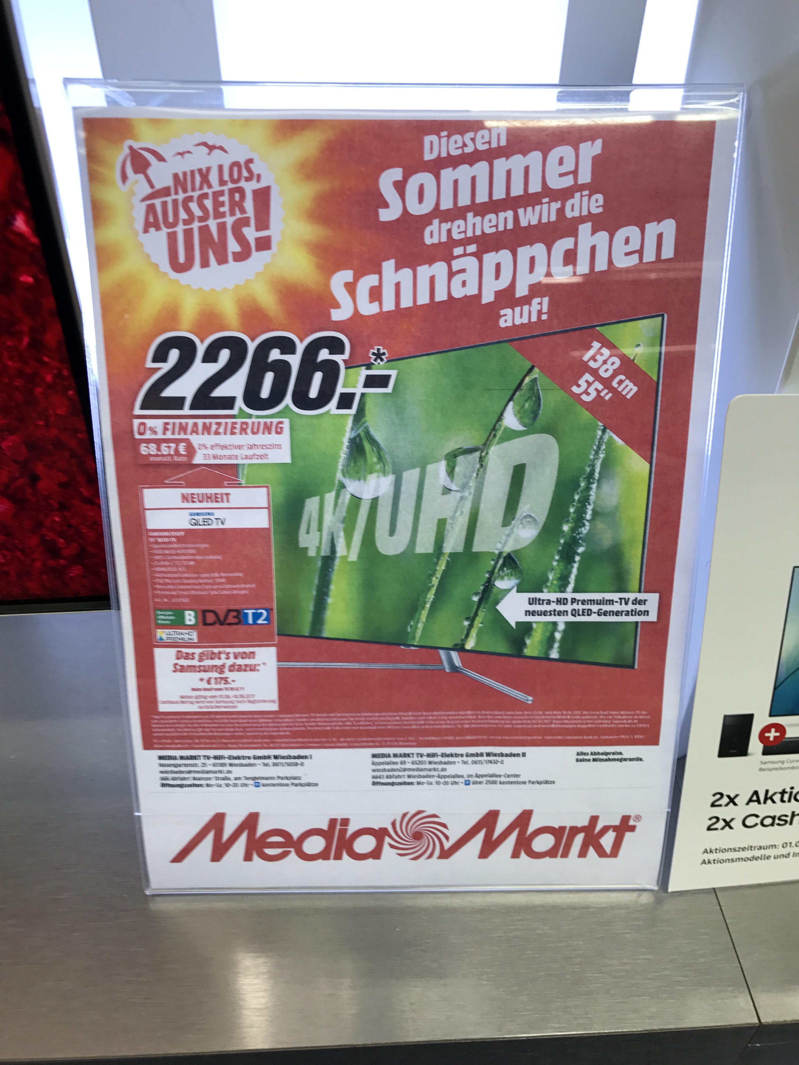 Samsung 55Q7F + Cashback MM Wiesbaden Äppellallee