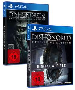 Dishonored 2: Das Vermächtnis der Maske Limited Edition (inkl. Dishonored Definitive Edition) (Xbox One & PS4) für je 19,99€ (Gamestop)