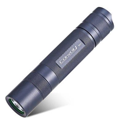 Wieder ein mal die Convoy S2+ LED Taschenlampe in grau für 18650 Akku, 7135x6 Driver @gearbest