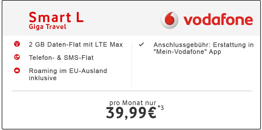 Vodafone Smart L inkl. Handy für 1€