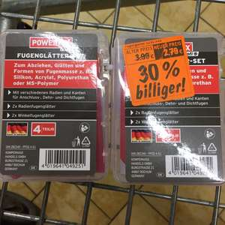 2,79€ Fugenglätterset 4 teilig Powerfix [Lidl] Velbert