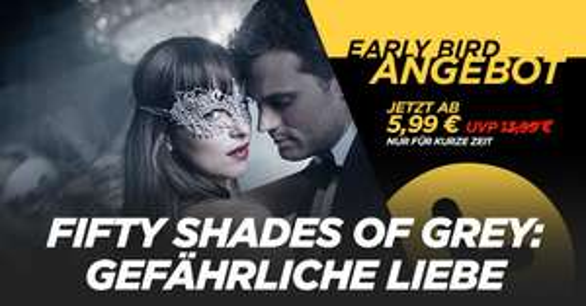 Shoop/Wuaki: 100% Cashback auf das Early Bird Angebot: Fifty Shades Of Grey - Gefährliche Liebe